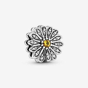 Pandora Sparkling Daisy Flower Clip Charm